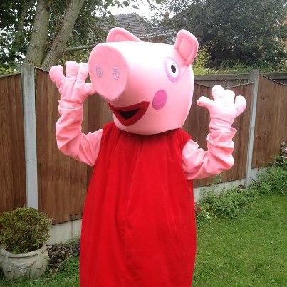 Peppa Pig Costume Hire Peppa Pig Mascot